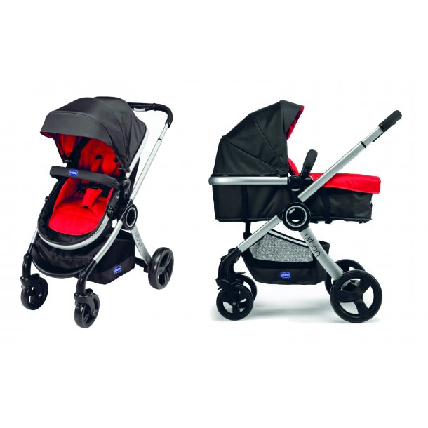 Urban Stroller Plus Crossover, Chicco, Black incl. 3 colourpacks